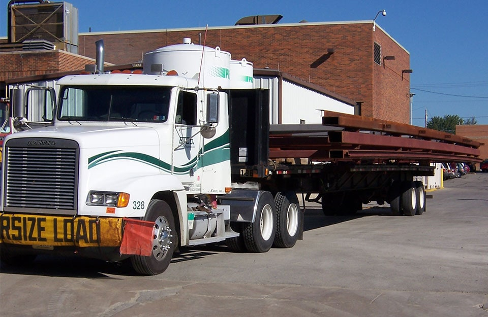 Flat Bed Shipping Oversized Load