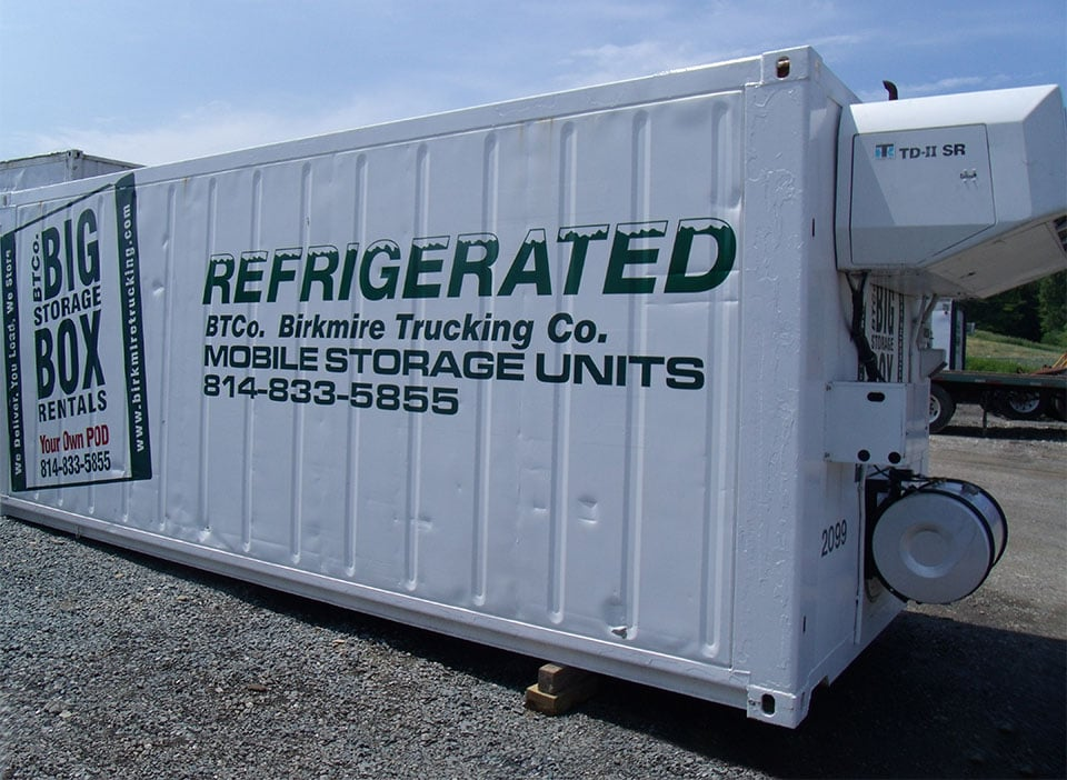 Commercial Refrigerated Mobile Storage Unit